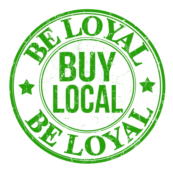 Be loyal buy local stamp